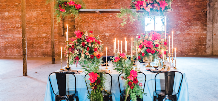 Color Me With Love in this Industrial Wedding Shoot