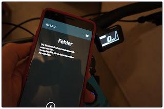 Ein großes Problem mit der Shimano-App: Die Verbindung des handys mit dem Antriebssystem funktioniert nicht immer reibungslos.