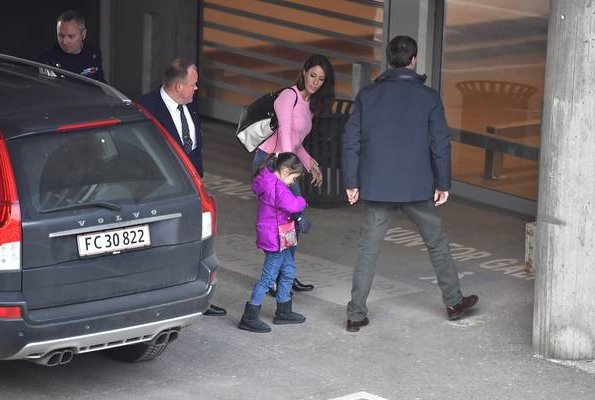 Queen Margrethe, Princess Mary, Prince Joachim, Princess Marie, Princess Isabella, Princess Josephine, Princess Athena visited Rigshospitalet