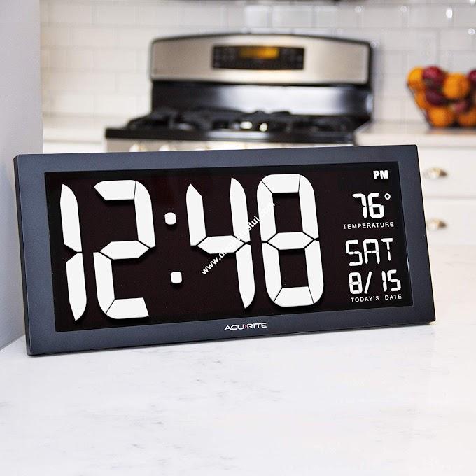 Đồng hồ điện tử led treo tường nhiệt độ - WHITE
