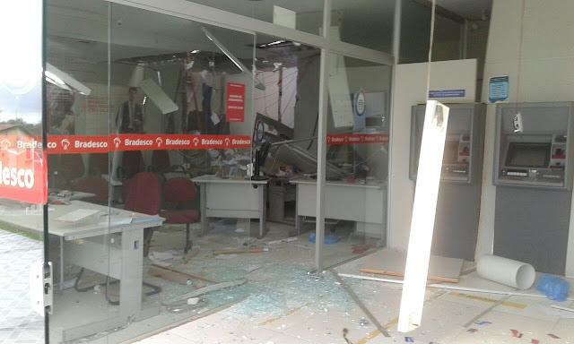 Em Piranhas,  em menos de 40 dias, segunda agência bancária é explodida  por criminosos fortemente armados