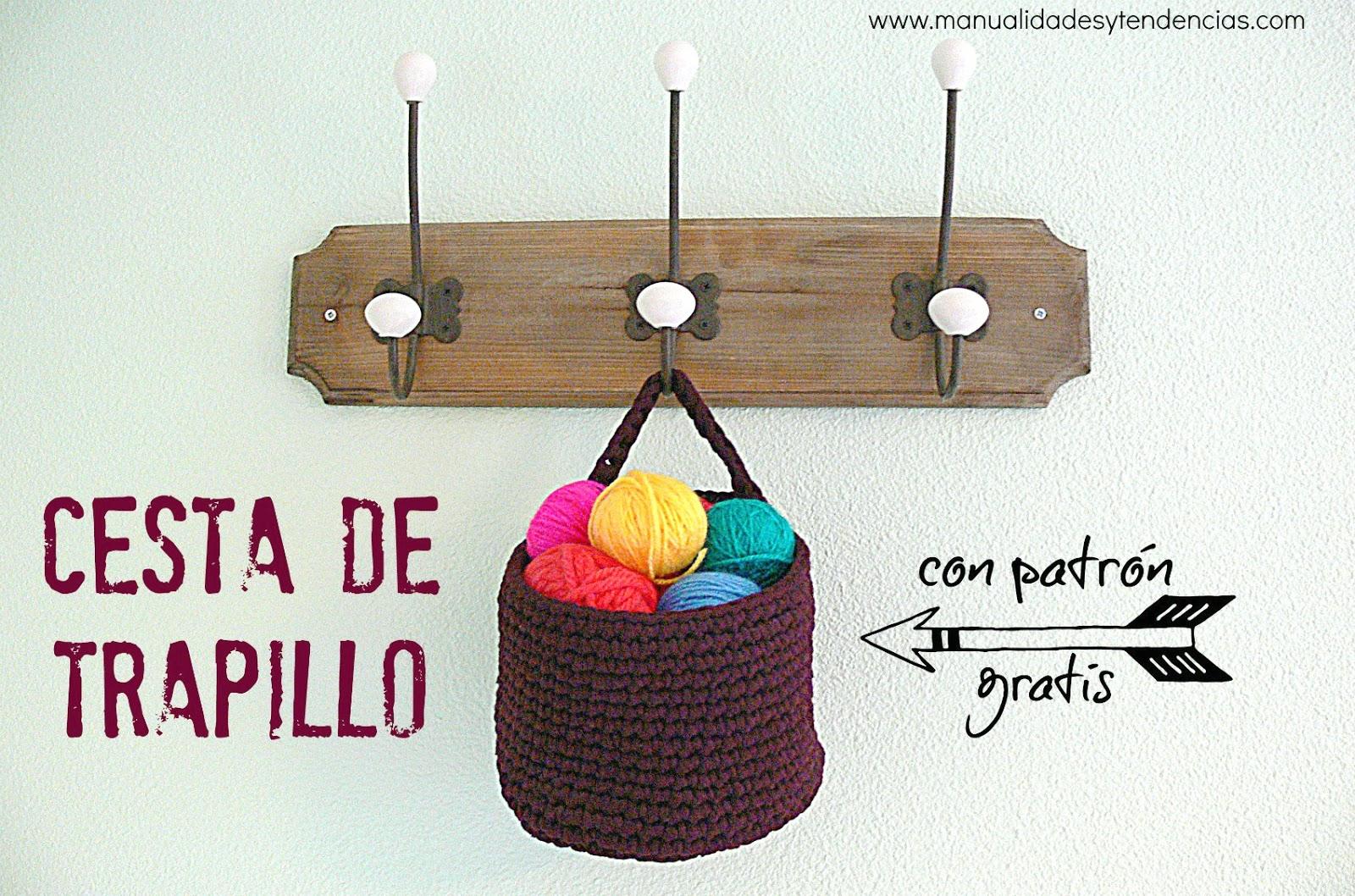 Manualidades Y Tendencias Crochet Cesta De Trapillo Con Patron Gratis