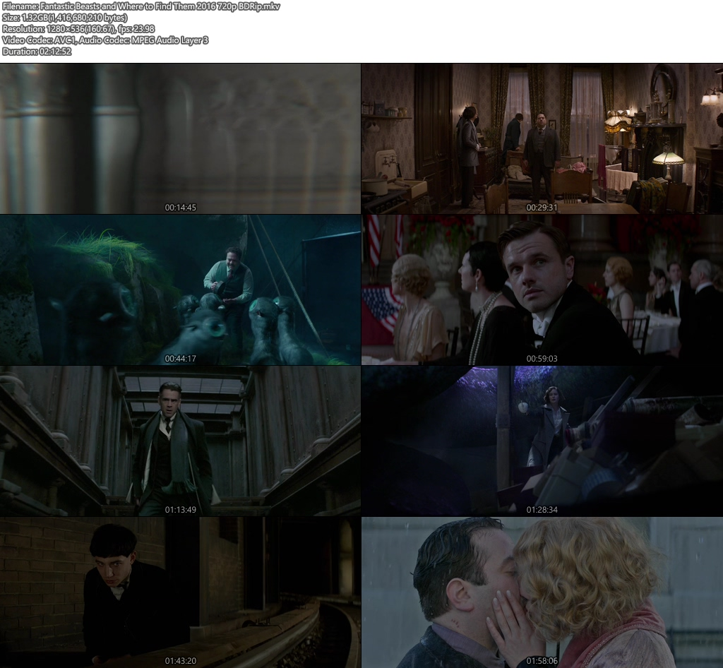 Fantastic Beasts and Where to Find Them 2016 720p BDRip | 480p 400MB | 200MB HEVC Screenshot