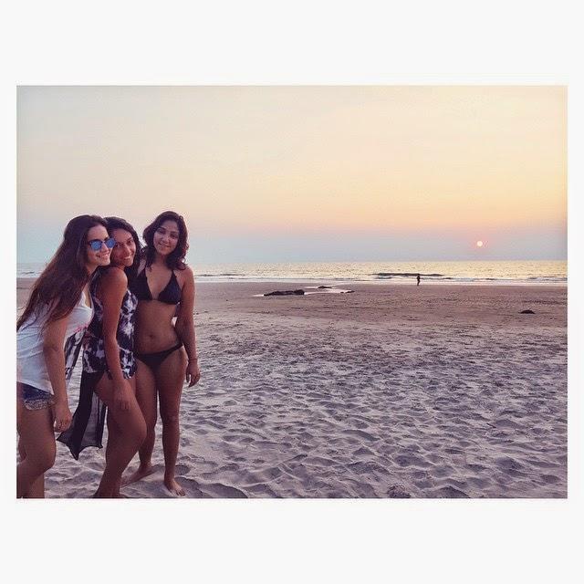beach time girlie time .. girls must have fun , go a , sunset , beach life , beach , happiness , love ,, Shweta Salve Bikini Body Pics from Goa Beach