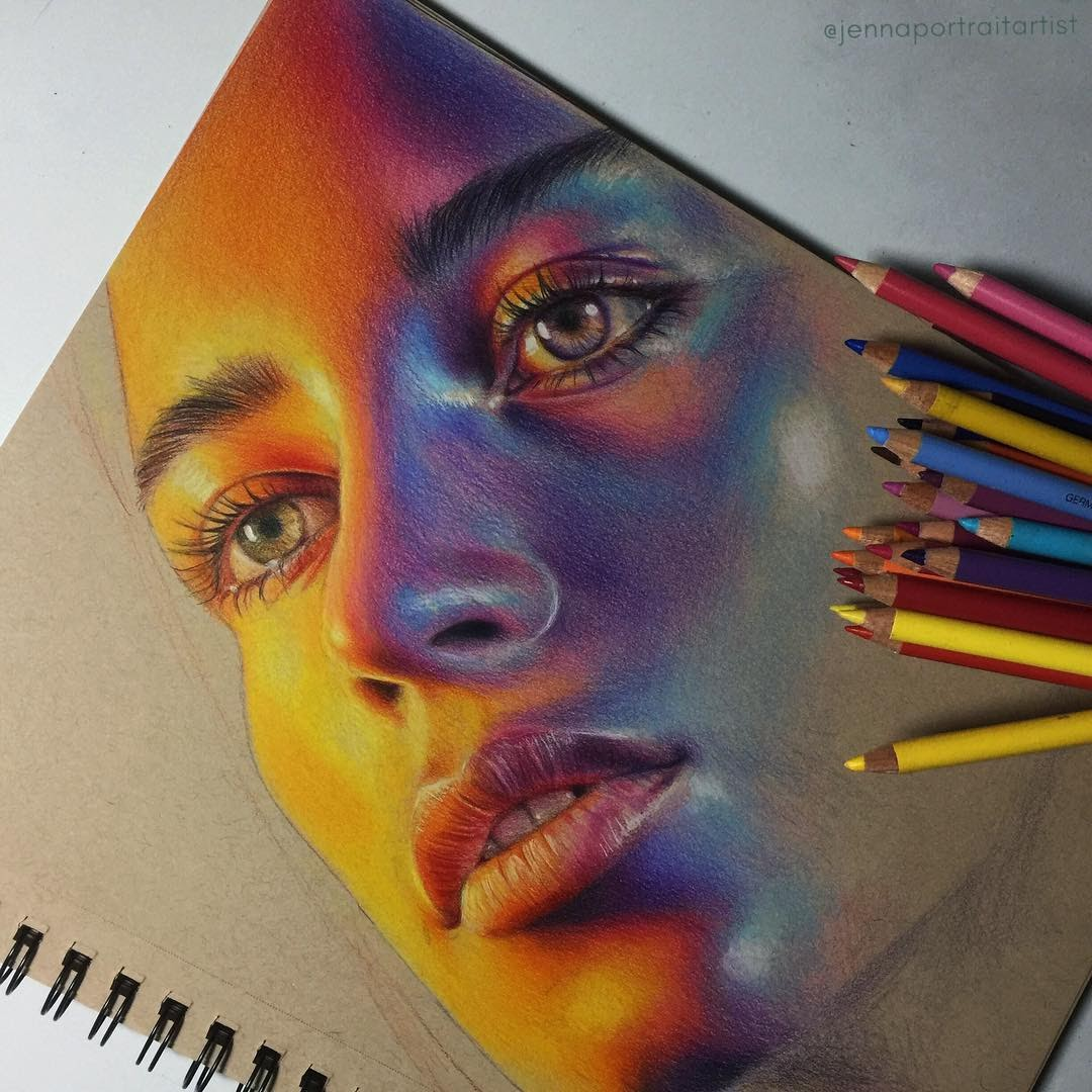 02-Jenna-Colorful-and-Luminous-Portrait-Drawings-www-designstack-co