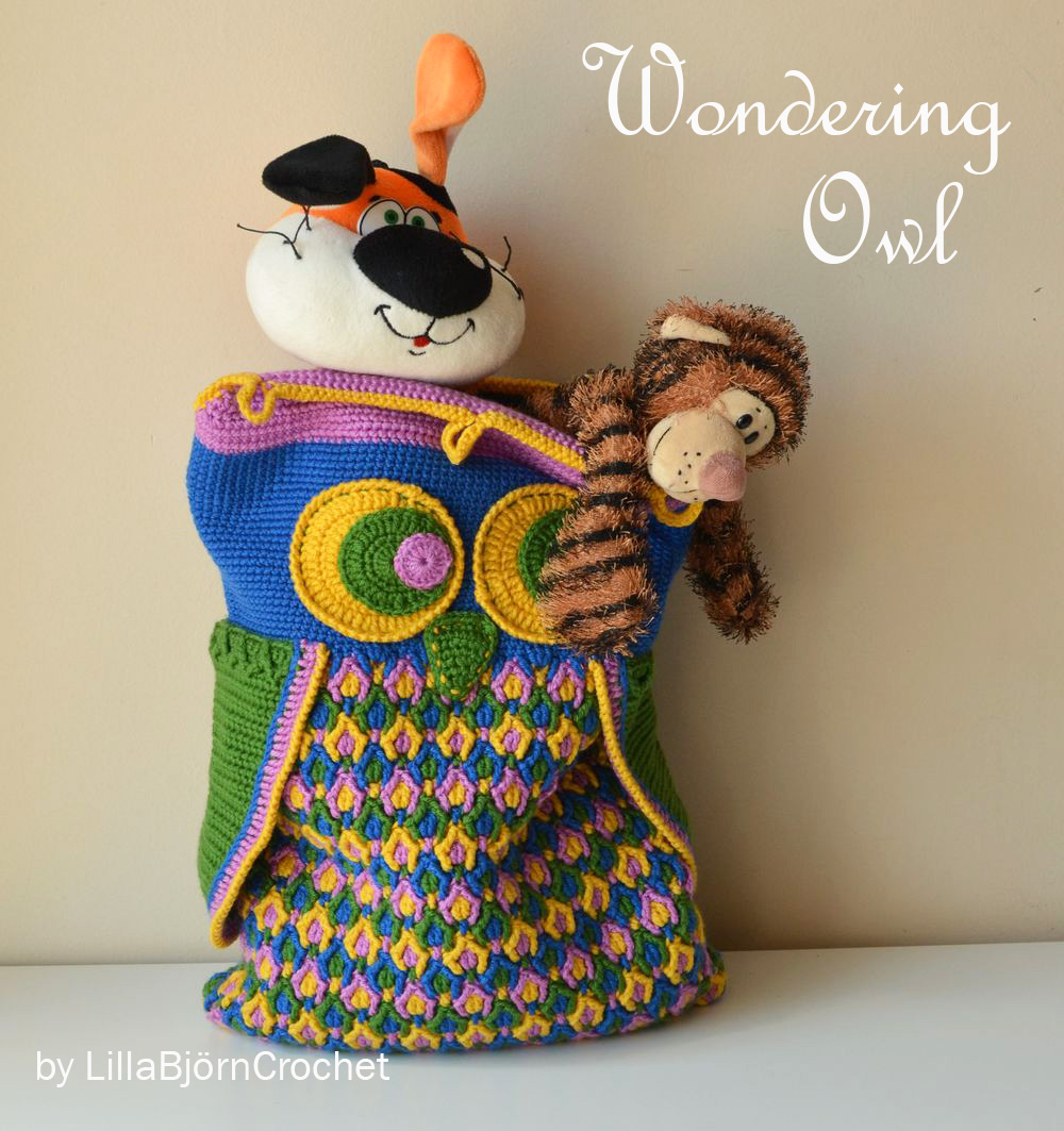 Wondering Owl Pillow - designed by Lilla Bjorn Crochet
