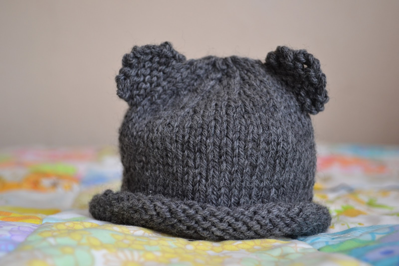 field wonderful  knitted baby things (baby bear hat 1c90cf989d3