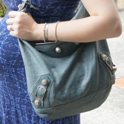 AwayFromTheBlue | Tiffany silver bracelet stack Balenciaga giant hardware Day bag in 2009 tempete
