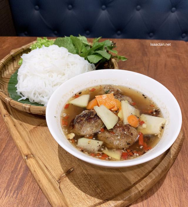 BÚN CHẢ (Hanoi Style Grilled Pork with Vermicelli ) - RM18.90 ala carte / RM22.90 set