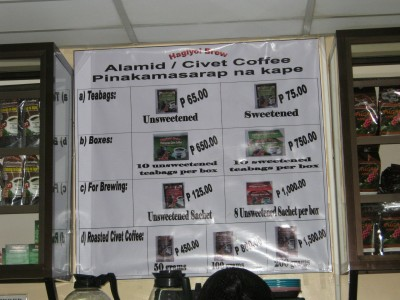 Civet Coffee Baguio