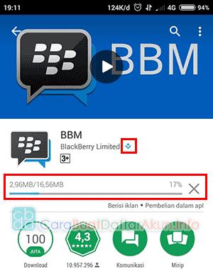cara membuat akun bbm dengan nomor telepon
