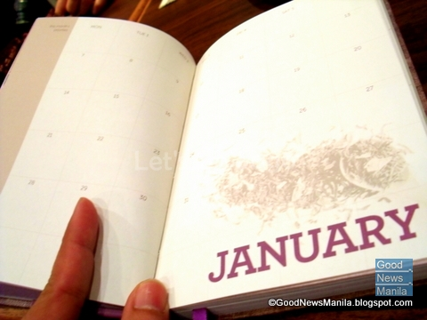 Inside Pages: Monthly Calendar spread