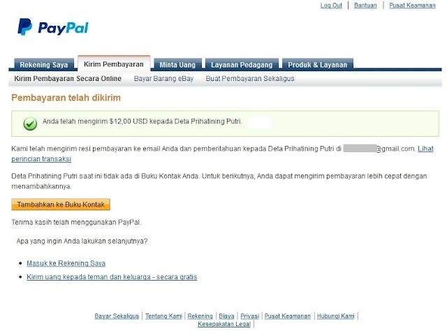 Cara Kirim Transfer Saldo Paypal Ke Pegguna Paypal Lain