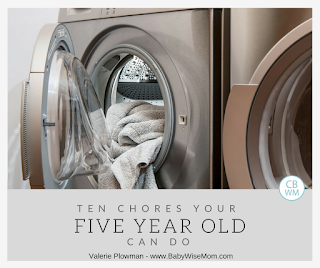 Ten Chores Your Five Year Old Can Do