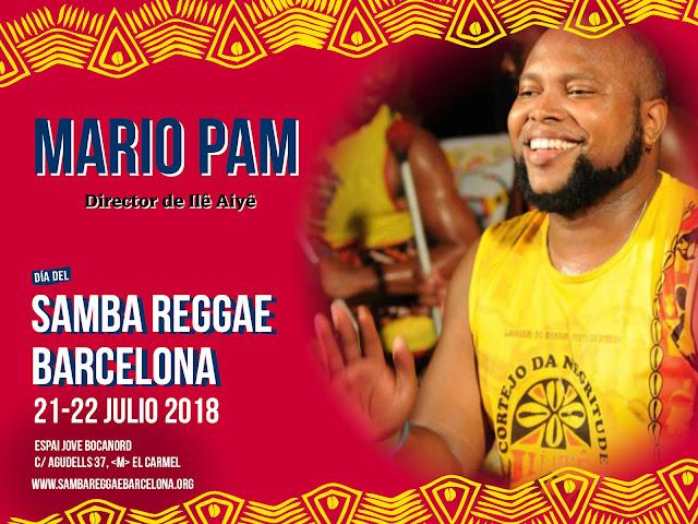 Mario Pam para el Festival Samba Reggae Barcelona desde Salvador  de Bahia