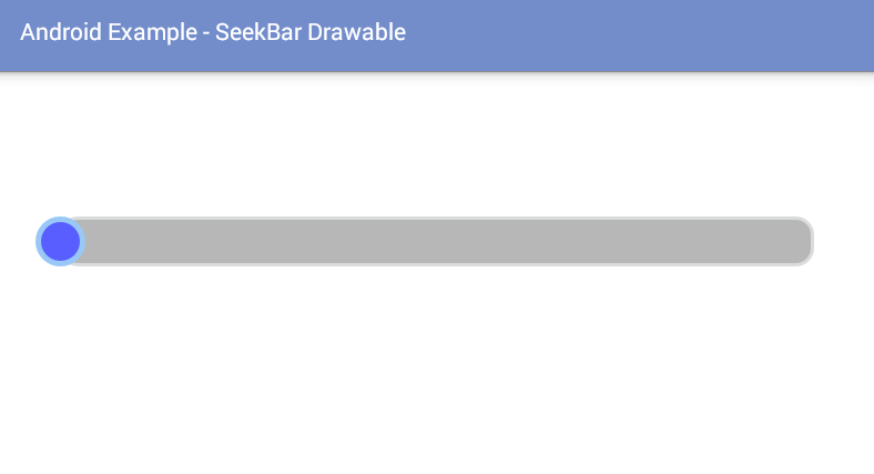 android - How to use SeekBar drawable