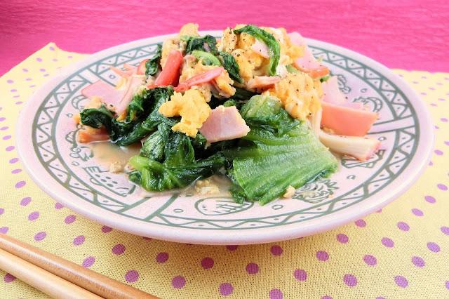 サニーレタスの中華風卵の塩炒めレシピ