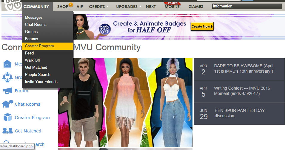db10841242c5 Visit imvu.com for the official tutorial showing how to sign up for cash  payments. These screen captures here show after you ve already been  verified for ...