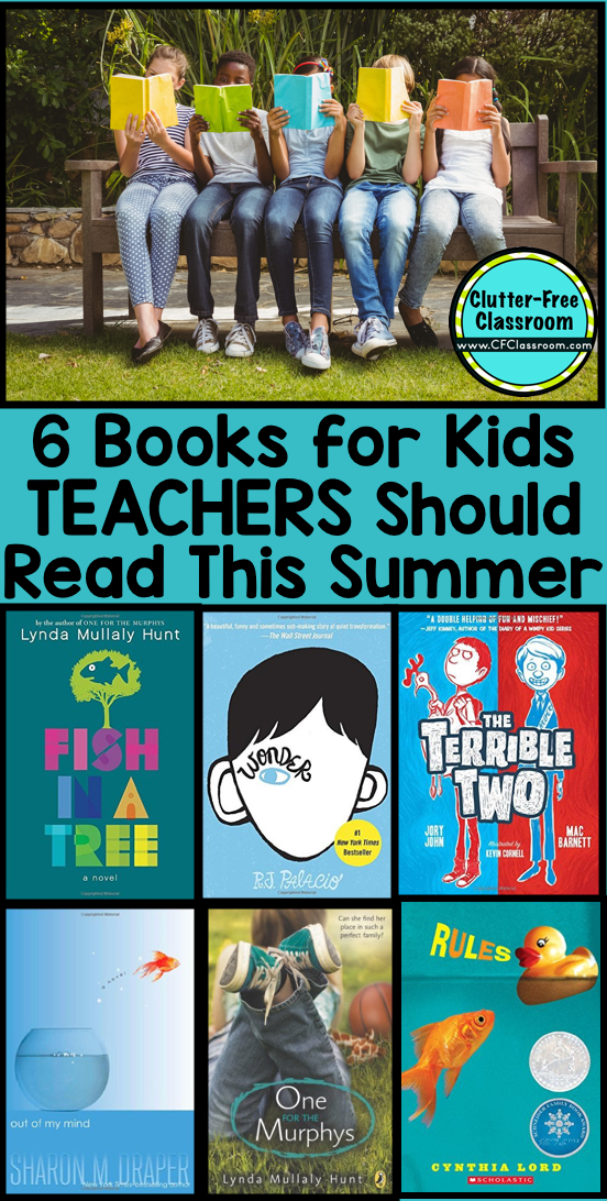 These 6 books were written for kids, but teachers will LOVE reading them in their spare time too. They are perfect for read aloud or book groups and literatures circles at the upper elementary level.