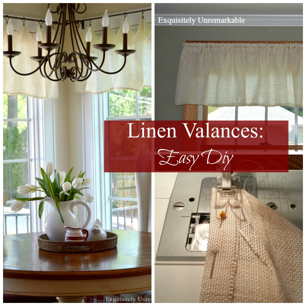 How to make linen valances