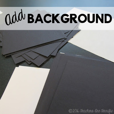 Science Bulletin Boards: Here's an easy and fun way to decorate a board for your science classroom! Step 2 is to make backgrounds for your pictures!