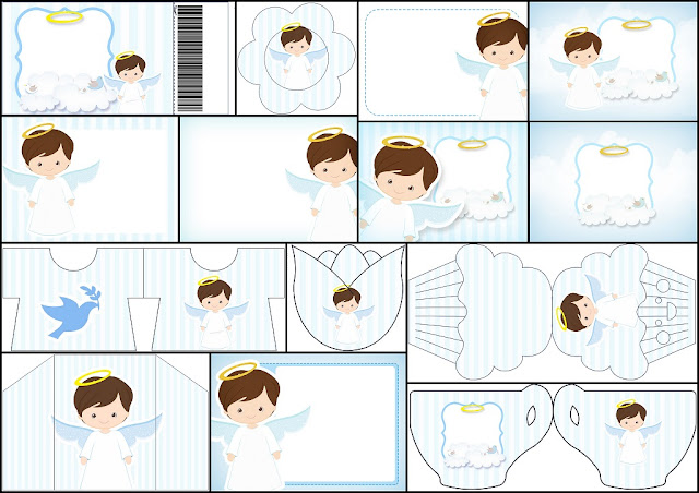 Cute Angel Boy: Free Printable Invitations.