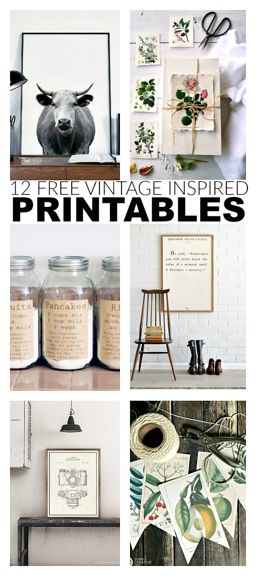 photograph regarding Free Vintage Printable referred to as 12 Absolutely free and Wonderful Traditional Motivated Printables Minimal