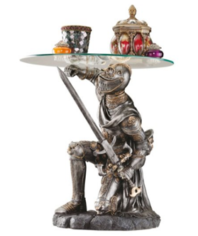 Design Toscano Battle-Worthy Knight Sculptural Table