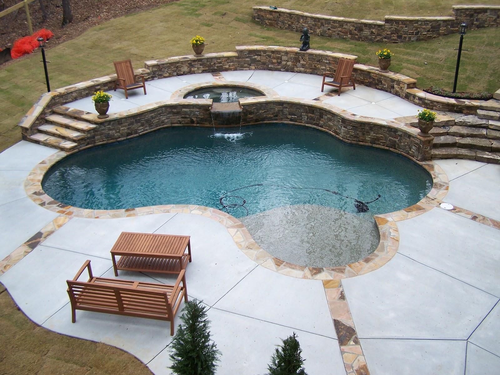 Backyard Oasis Pools: Free Form Pool - Milton