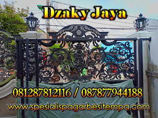 Pemasangan Pintu Gerbang Besi Tempa Jakarta Utara