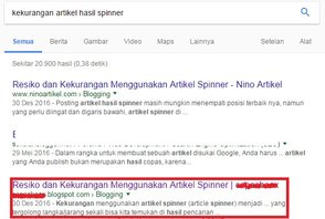 Posisi Blog AGC Di Google Pencarian