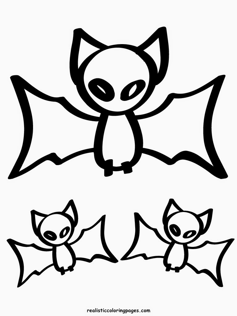 scarry halloween bats coloring pages