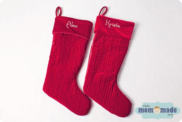 stocking colorname - Velvet Christmas Stockings