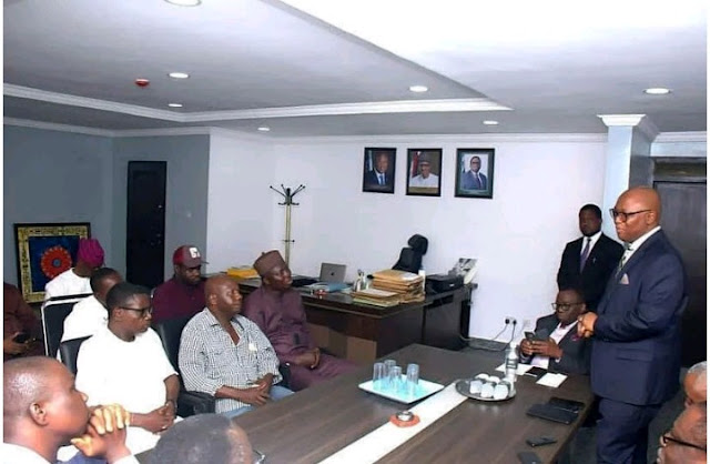 Comic Actor Baba Suwe back on his feet, meets Minister of Health, Prof Isaac Adewole