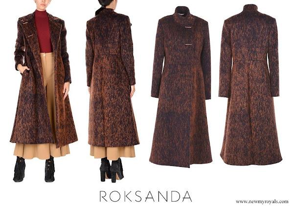 Kate Middleton in Roksanda Ilincic Brick-red Coat
