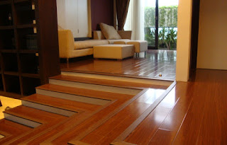 Material untuk lantai ruangan dengan menggunakan kayu