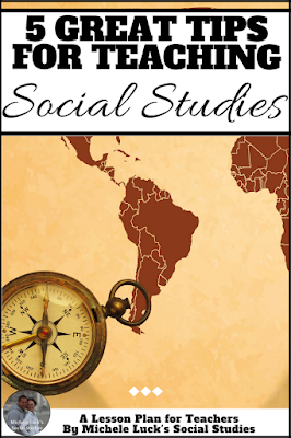 These 5 tips for teaching Social Studies will help you get started off on the right foot at the beginning of the new school year. Start back to school with a great foundation for yourself and your students.  Teaching skills and Social Studies fundamentals in the first few class periods can help to set the foundation for your entire year and will help students get a strong footing in your subject area study.  #teaching #socialstudies #history #lessonplans #teachinghistory #teachingsocialstudies #lessonplan #backtoschool #middleschool #highschool