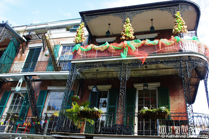 French Quarter Decorated for Christmas New Orleans