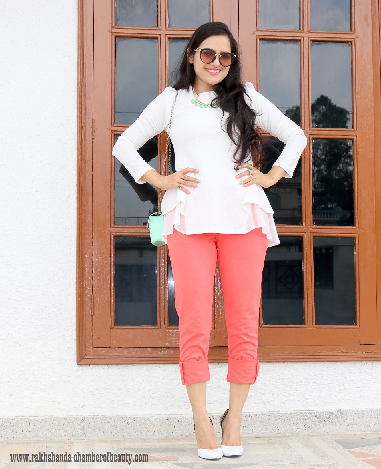 Ruffled Hemline top- OOTD (Zooomberg.com), OOTD, fashion trends 2015, Indian fashion blogger, Chamber of Beauty