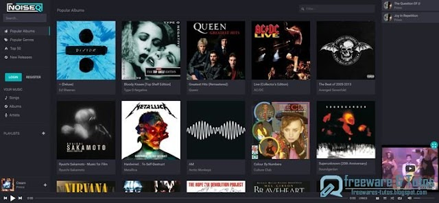 NoiseQ : un nouveau service gratuit d'écoute de musique en ligne