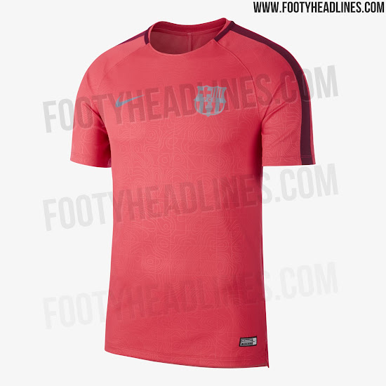 outlet store d8db9 ff069 Barcelona 18-19 Champions League Pre-Match Shirt Leaked ...