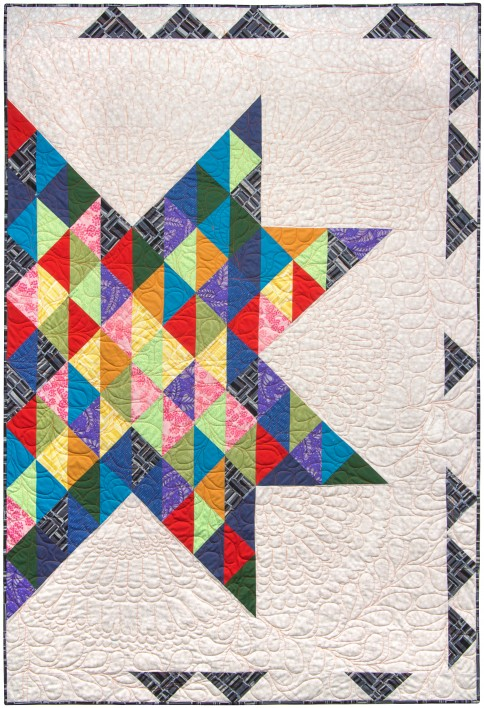 Autumn Quilt Free Pattern designed by Valori Wells for Robert Kaufman Fabrics, Featuring Blueprint Basics