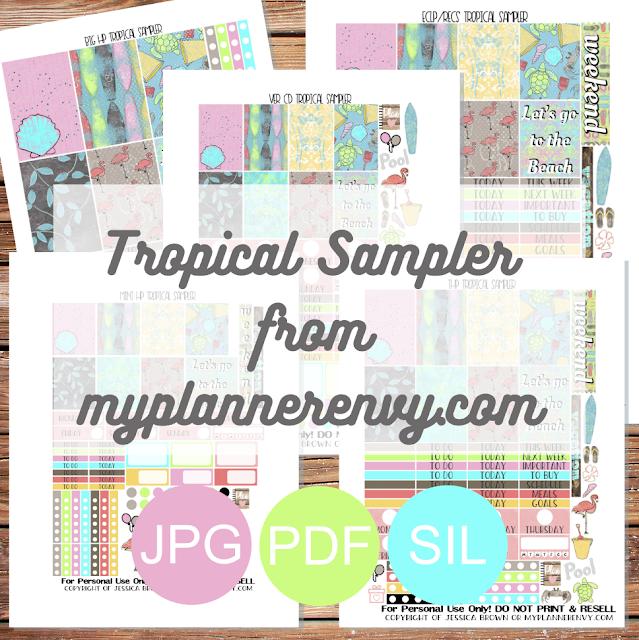 Free Printable Tropical Sampler from myplannerenvy.com