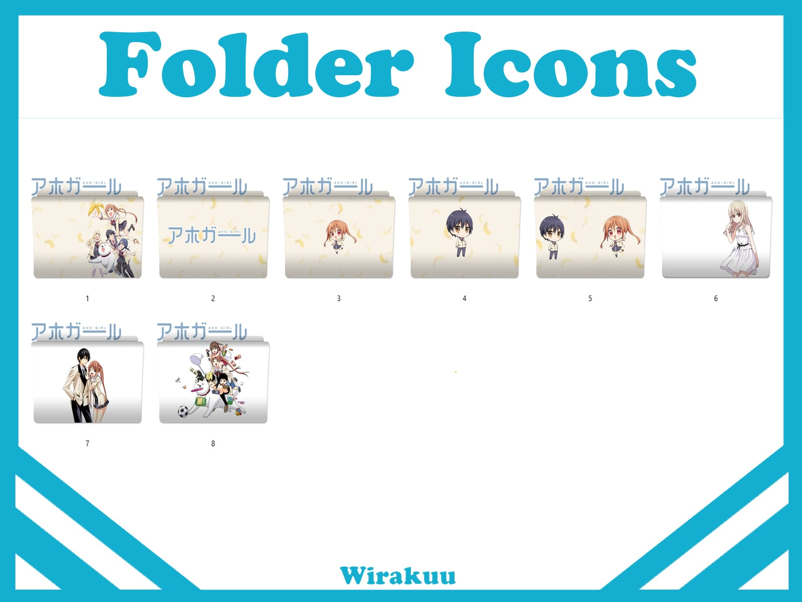 Folder Icons Aho Girl Anime Summer 2017