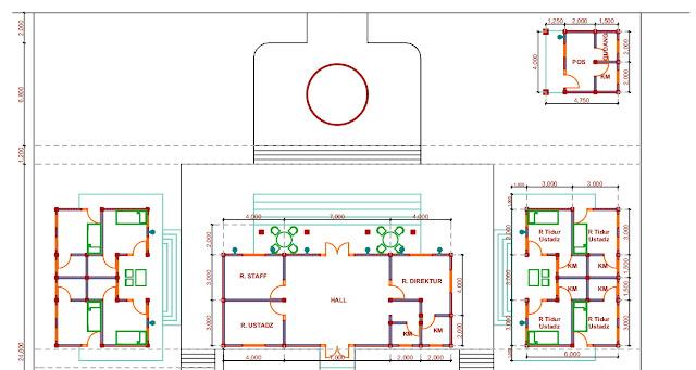 Jasa Gambar Desain Pondok Pesantren di Lamongan 2020