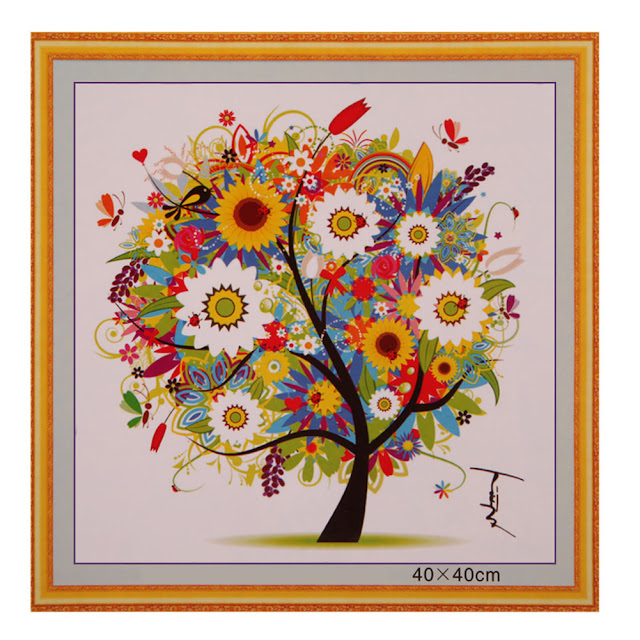 Niedokończony haft – rajskie drzewko