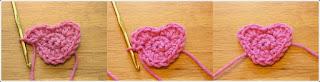 Tığ işi Kalpli Motif Yapımı, Resimli Açıklamalı 1