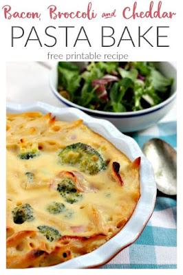 Bacon, Broccoli and Cheddar Pasta Bake