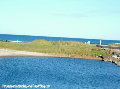 Scenic Walk Along the Ocean on the Seawall in North Wildwood New Jersey
