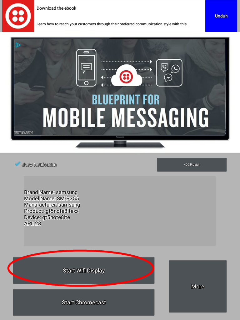 Cara menghubungkan Anycast dari Laptop dan Smartphone/Tablet Samsung